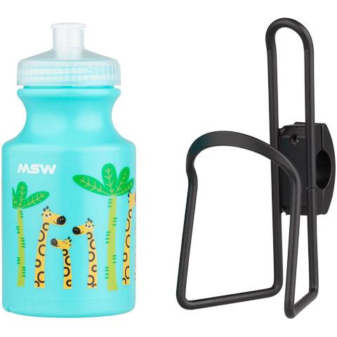 Kids Handlebar-Mounted Water Bottle and Cage Kit